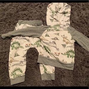Matching set dinosaur pants and hoodie